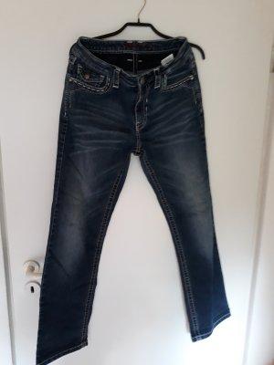 Blue Fire Jeans stretch bleu foncé