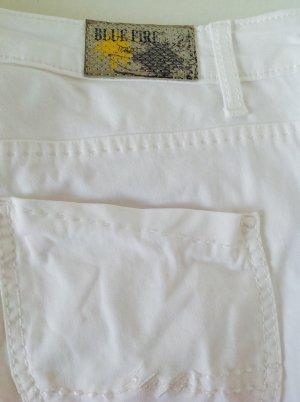Blue Fire Jegging blanc coton