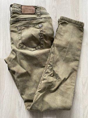 Blue Fire Jeans carotte ocre-kaki