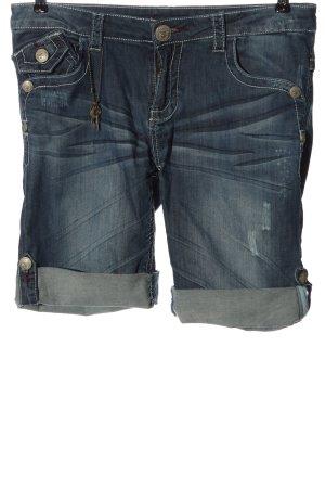 Blue Fire Denim Shorts blue casual look