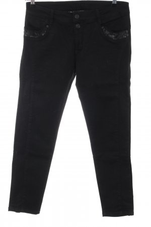 Blue Fire Jeans a carota nero stile casual
