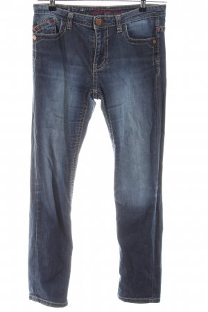Blue Fire Jeans a carota blu stile casual