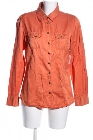 Blue Fire Long Sleeve Shirt light orange casual look