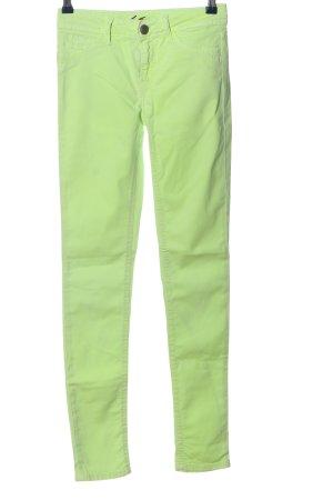Blue Fire Jeans a sigaretta verde stile casual