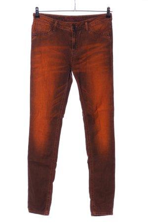 Blue Fire Skinny Jeans hellorange-braun Farbverlauf Casual-Look