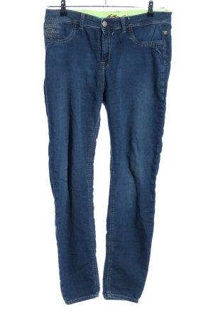 Blue Fire Slim Jeans blau-grün Casual-Look