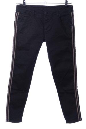 Blue Fire Slim Jeans schwarz Streifenmuster Casual-Look