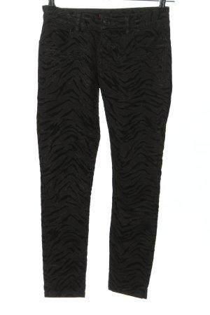 Blue Fire Slim Jeans schwarz-hellgrau abstraktes Muster extravaganter Stil