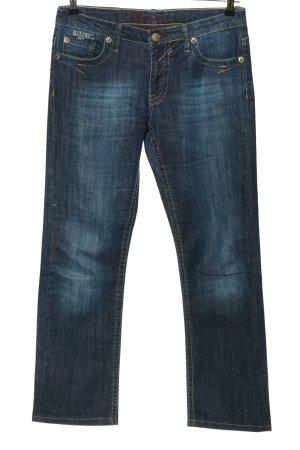 Blue Fire Jeans a gamba dritta blu stile casual