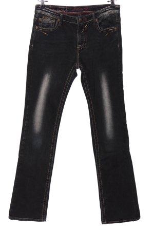 Blue Fire Straight-Leg Jeans schwarz Casual-Look