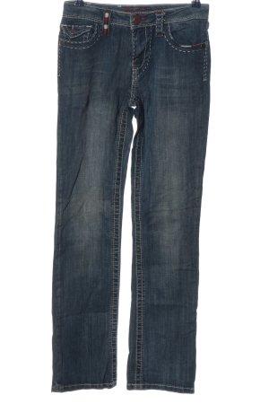 Blue Fire Jeans met rechte pijpen blauw casual uitstraling