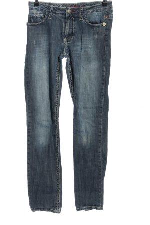 Blue Fire Jeansy z prostymi nogawkami niebieski W stylu casual