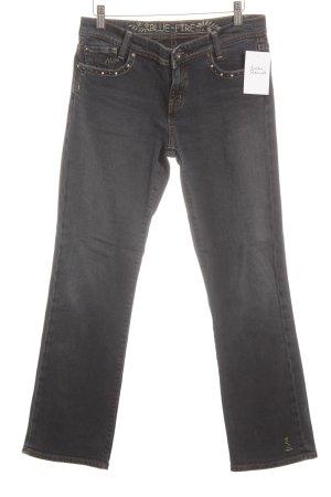 Blue Fire Jeansy z prostymi nogawkami szary niebieski-bladozielony