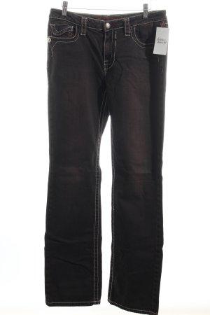 Blue Fire Straight-Leg Jeans schwarz-braun Casual-Look