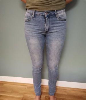 Spodnie biodrówki szary niebieski-jasnoniebieski Denim