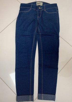 Bershka Tube Jeans dark blue