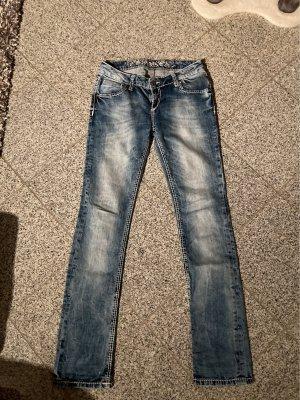 Soccx Spodnie z pięcioma kieszeniami błękitny