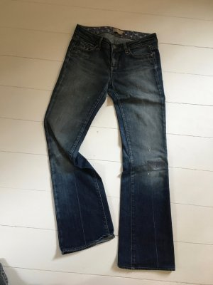 Blue jeans Paige bootcut used look dark blue 28 32 Benedict Canyon