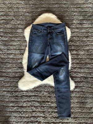 G-Star Dopasowane jeansy niebieski-ciemnoniebieski
