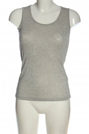 Blue Joint Haut tricotés gris clair moucheté style décontracté