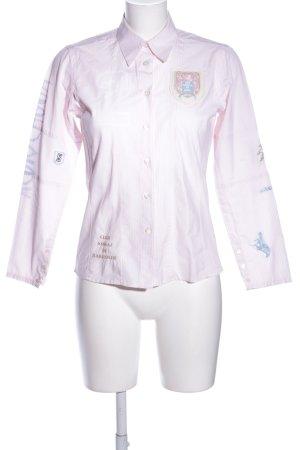 Blue Life Shirt met lange mouwen wit-roze volledige print casual uitstraling