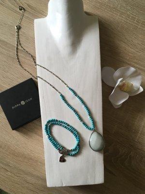 Pippa & Jean Collana di perle argento-turchese
