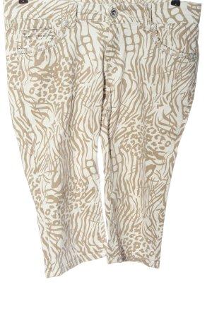 Blue Monkey 3/4-broek wit-bruin casual uitstraling