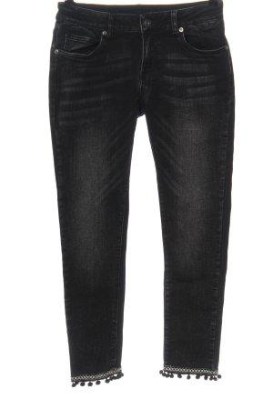 Blue Monkey Jeans 7/8 noir style décontracté
