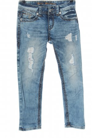Blue Monkey 7/8-jeans blauw casual uitstraling