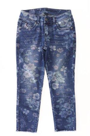 Blue Monkey 7/8 Jeans Größe W28 mit Blumenmuster blau aus Baumwolle