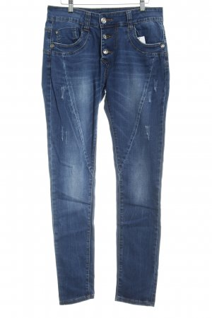 Blue Monkey Jeans larghi blu scuro look pulito