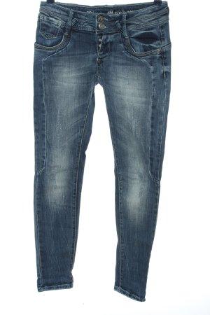 Blue Monkey Jeans taille basse bleu style décontracté