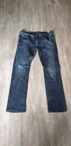 Blue Monkey Pantalon taille basse bleu