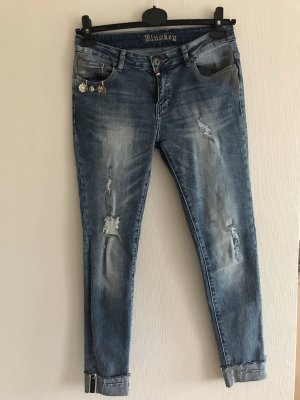 Blue Monkey Tube jeans veelkleurig