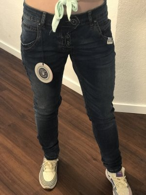 Blue Monkey Jeans skinny blu scuro