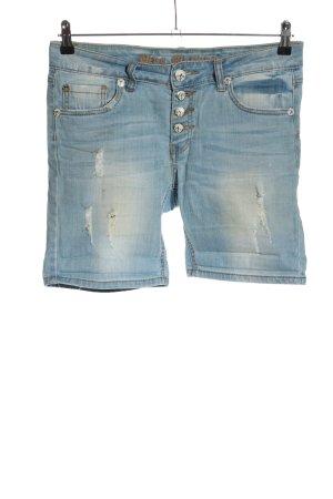 Blue Monkey Pantaloncino di jeans blu stile casual