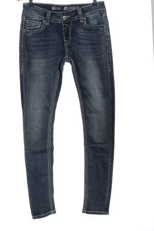 Blue Monkey Jeans a sigaretta blu stile casual