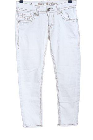 Blue Monkey Jeans a sigaretta bianco stile casual