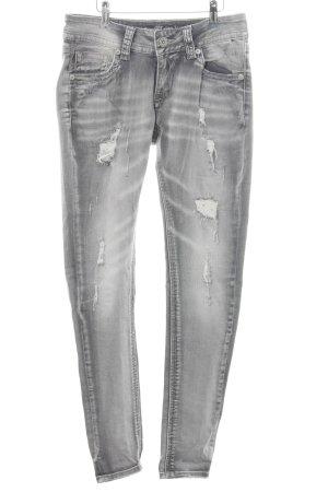 Blue Monkey Slim Jeans hellgrau Party-Look