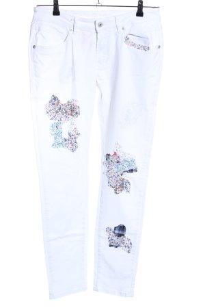 Blue Monkey Slim Jeans Blumenmuster Casual-Look