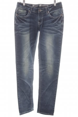 Blue Monkey Slim Jeans slate-gray second hand look