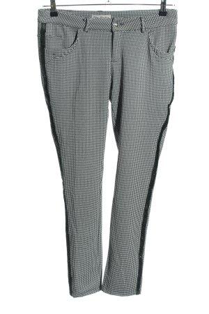 Blue Monkey Pantalon en jersey noir-blanc imprimé allover style décontracté