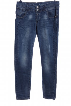 Blue Monkey Straight-Leg Jeans blau Casual-Look