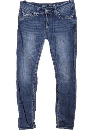 Blue Monkey Jeans a gamba dritta blu stile da moda di strada