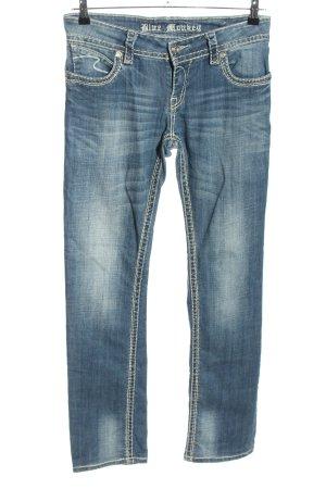 Blue Monkey Jeans a gamba dritta blu stile casual