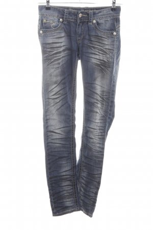 Blue Monkey Straight-Leg Jeans blau-hellgrau extravaganter Stil