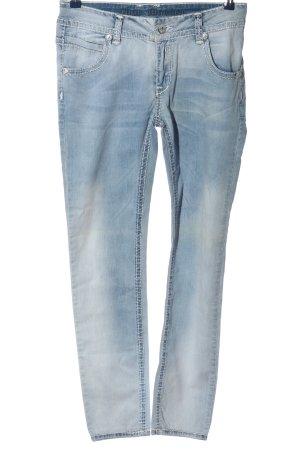 Blue Monkey Jeans coupe-droite bleu style décontracté