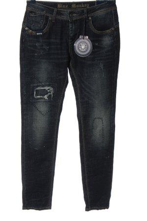 Blue Monkey Jeans a gamba dritta nero stile casual