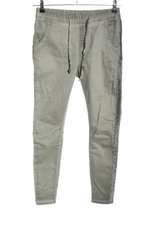 Blue Monkey Jeans stretch gris clair-argenté motif rayé style décontracté