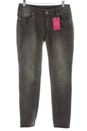 Blue Monkey Stretch jeans zwart quilten patroon casual uitstraling